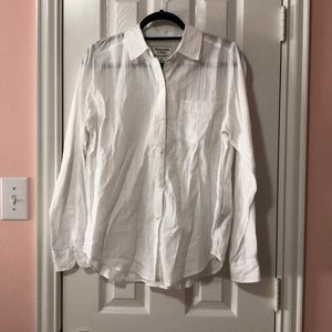 Abercrombie & Fitch Textured Button Down Shirt
